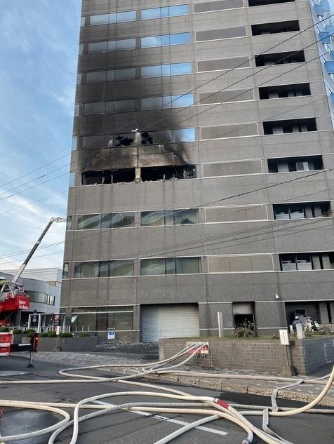 ドーコン本社ビルの火事1