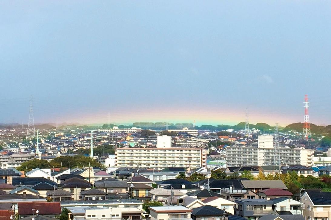 即位の日に虹