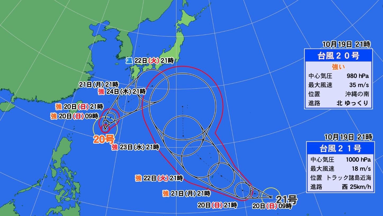 台風ダブル