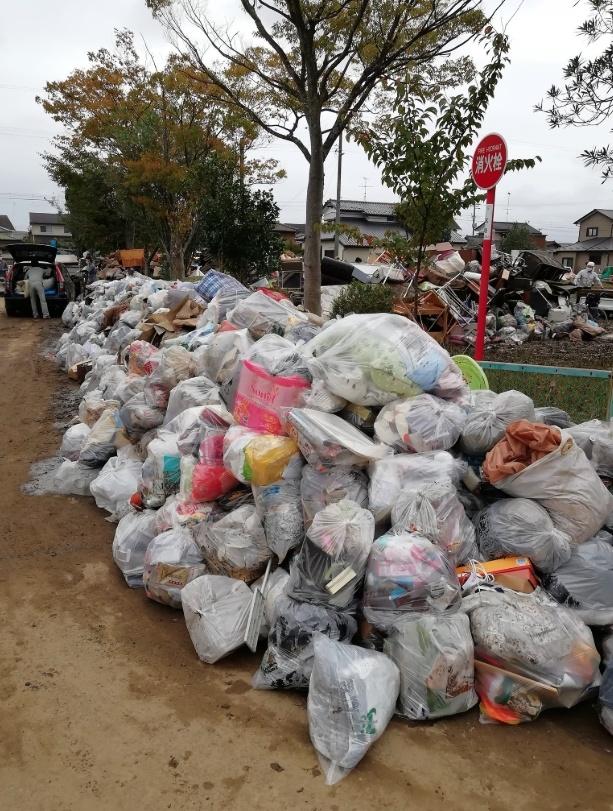 夏井川(なついがわ)氾濫による災害ごみや被害状況