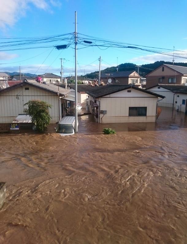 夏井川(なついがわ)氾濫