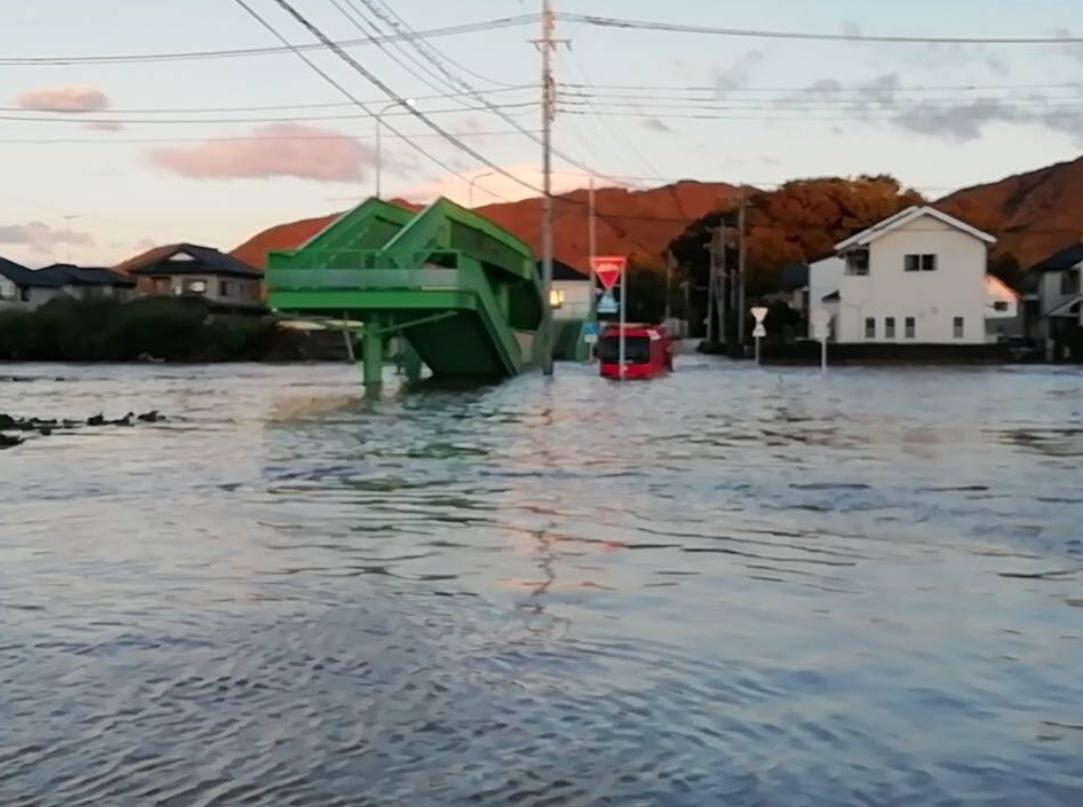 永野川氾濫