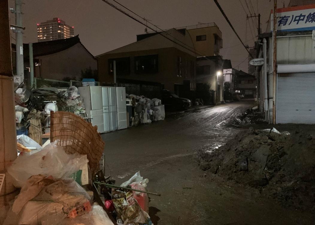 田川(たがわ)氾濫による災害ごみ