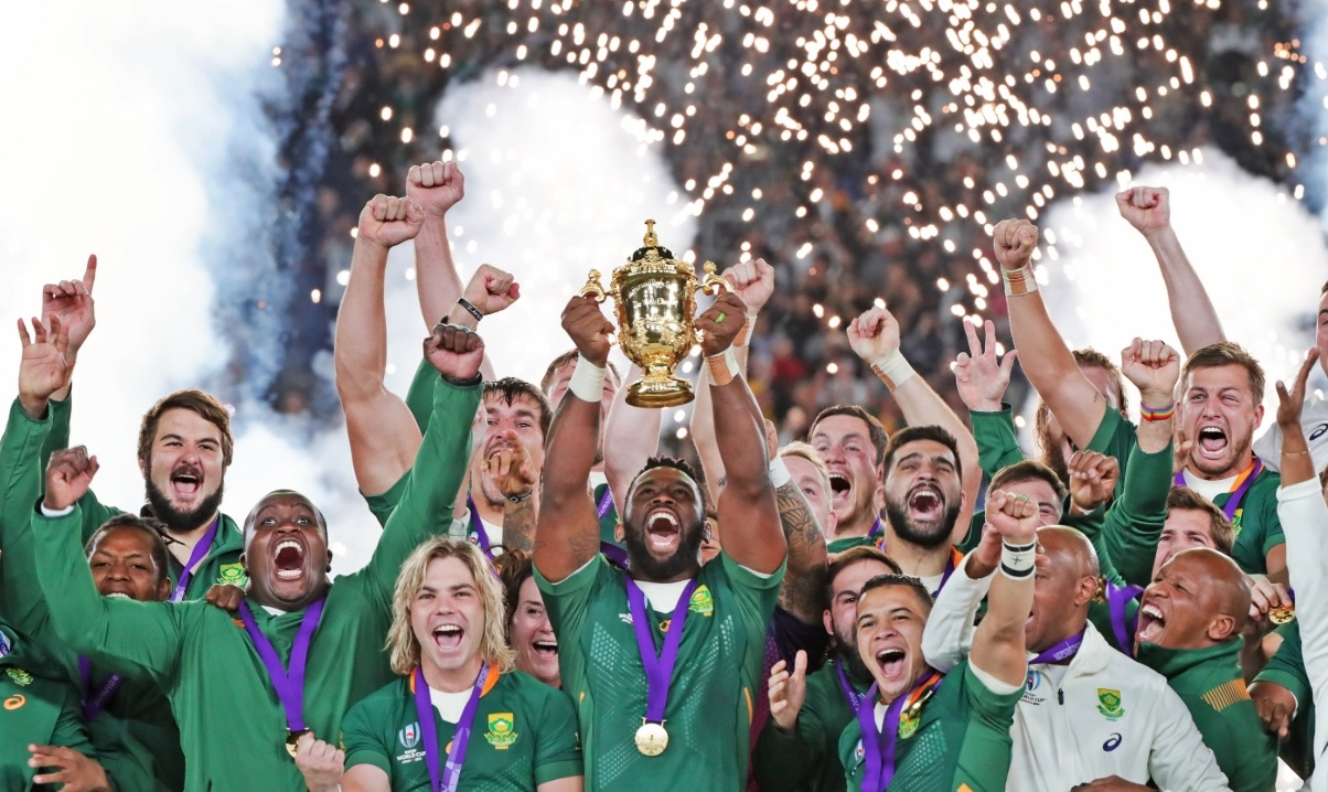 ラグビーwカップ南アフリカ優勝