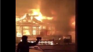 首里城の火災現場で間近で撮影された様子