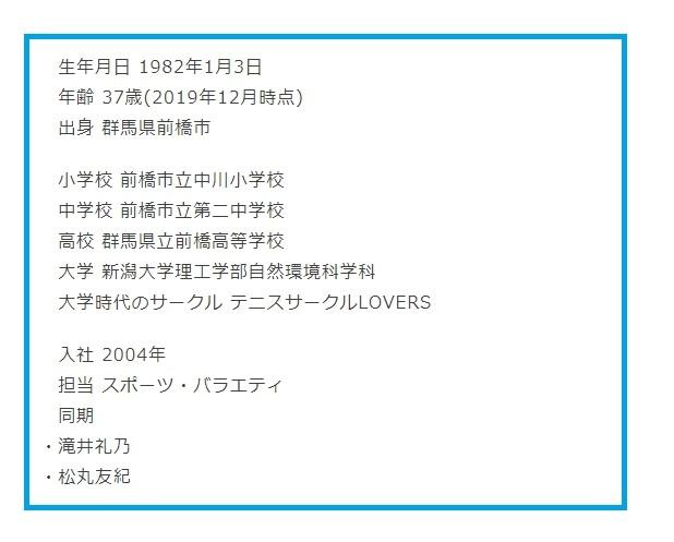 増田和也アナウンサープロフィール