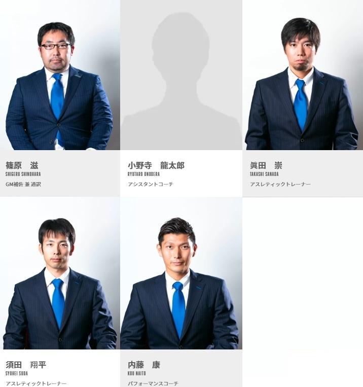 島根スサノオマジックに所属しているスタッフや選手一覧2