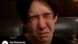 ナムテ包丁持ち歩く動画で心配の声多数。。インスタライブ中に号泣も!
