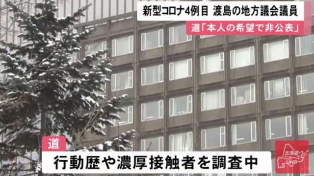 七飯町のコロナウイルス感染議員は誰で入院先の病院は渡島管内か?感染経路は?