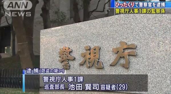 【悲報】池田賢司の顔画像は?警視庁警察官がひったくり!東京都府中市