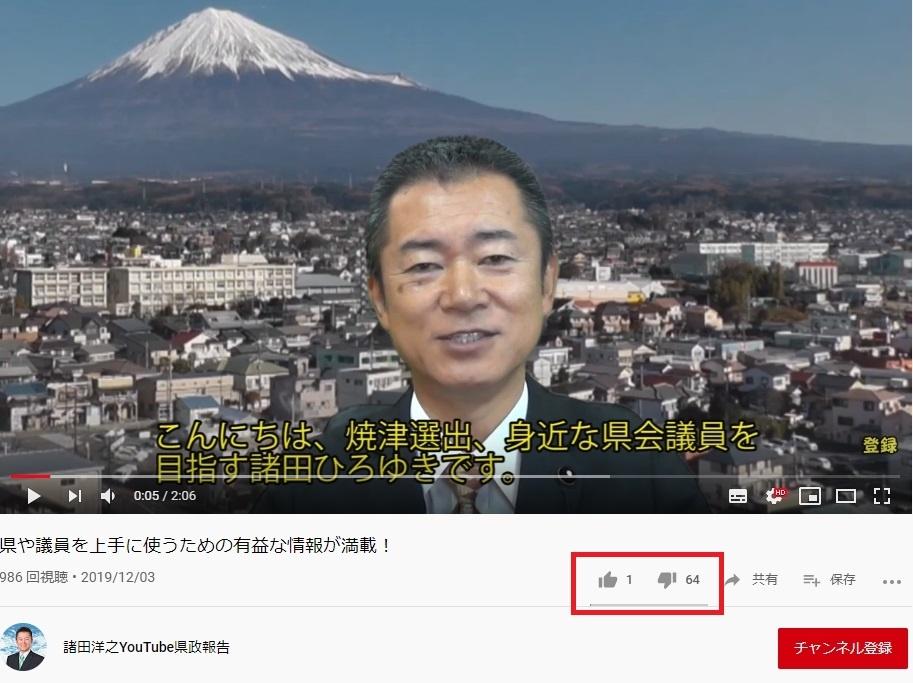 諸田洋之のYouTube動画