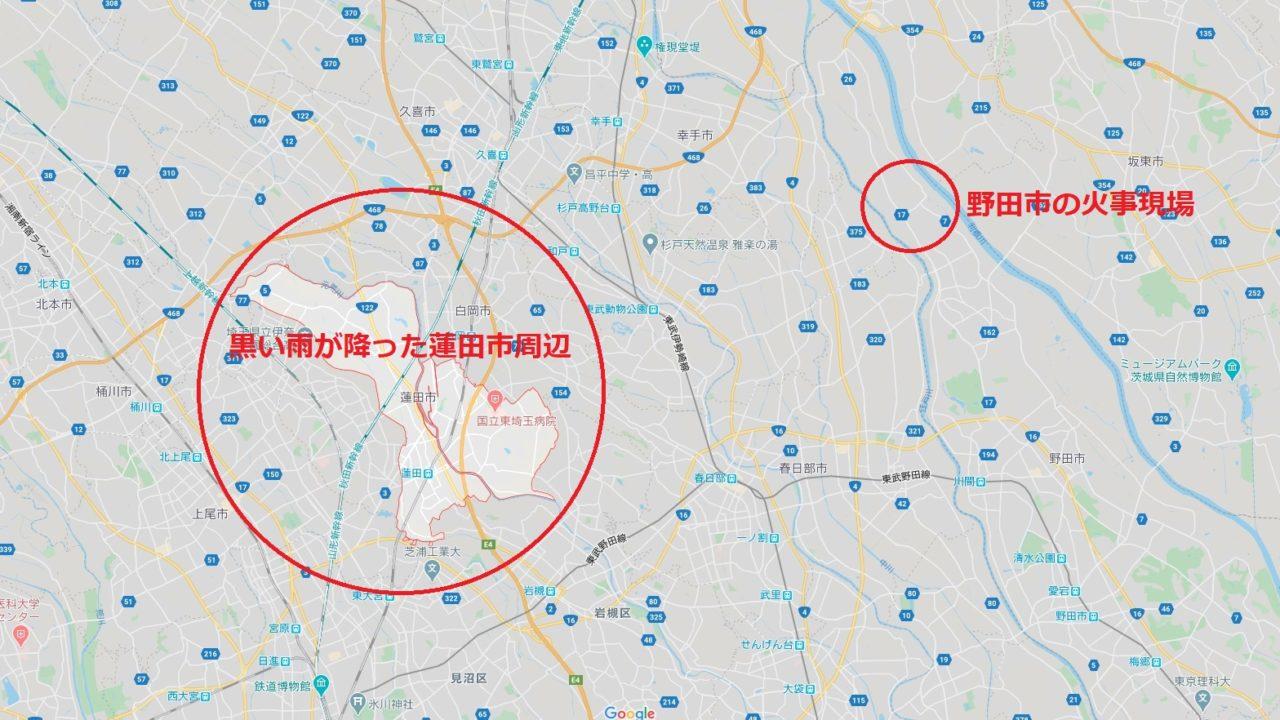 野田市の廃プラ工場の場所(地図)!距離や位置は?