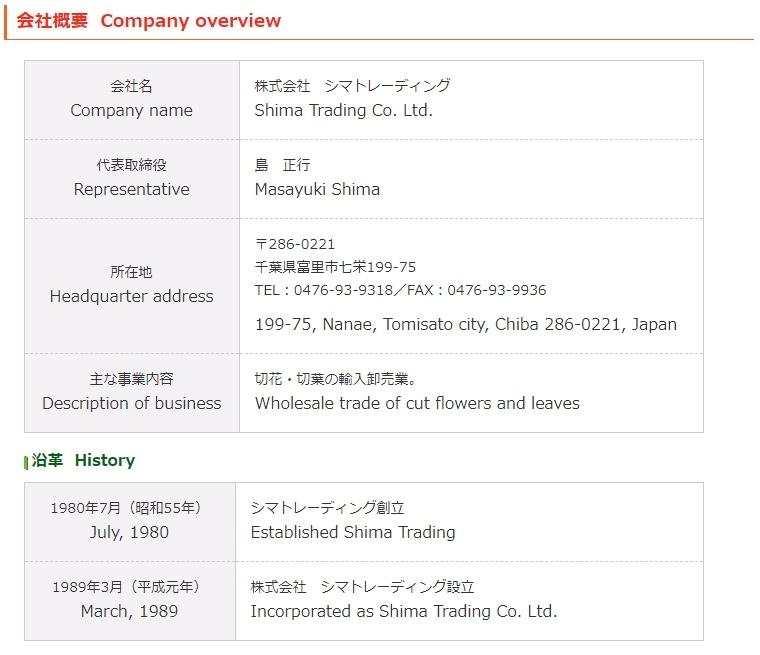 千葉県のシマトレーディングの情報